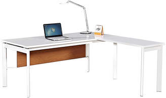 Corner Office Gloss White Active L Shaped Desk