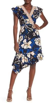 ECI Floral Asymmetrical Dress