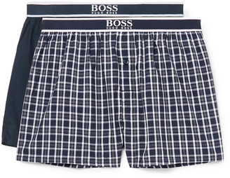 HUGO BOSS Two-Pack Cotton Boxer Shorts - Men - Blue
