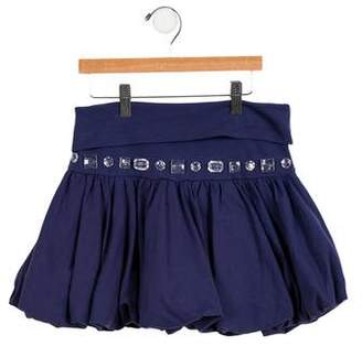MonnaLisa Girls' Jewel-Embellished Bubble Skirt w/ Tags