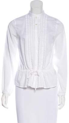 Lauren Ralph Lauren Embroidered Long Sleeve Button-Up