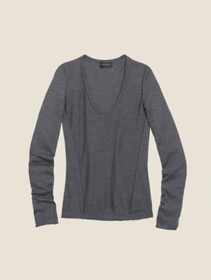 DKNY Merino Wool V-Neck