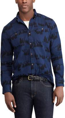 Chaps Big & Tall Regular-Fit Performance Flannel Button-Down Shirt