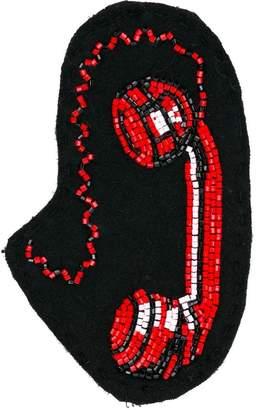 Olympia Le-Tan telephone bag badge