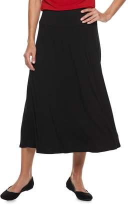 Dana Buchman Women's Black Midi Skirt