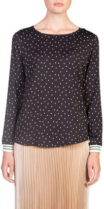 Skin and Threads Sporty Cuff Blouse