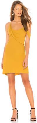 Michelle Mason Draped Cowl Mini Dress