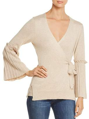 Heather B V-Neck Bell-Sleeve Sweater