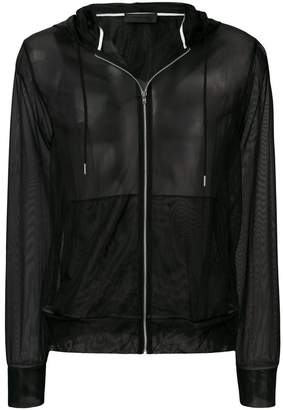 Helmut Lang mesh hooded jacket