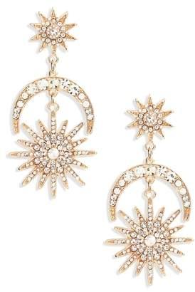 Shashi Luna Pave Earrings