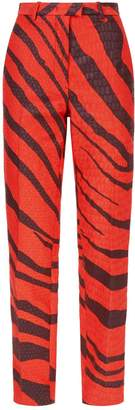 Roberto Cavalli Textured Zebra Trousers