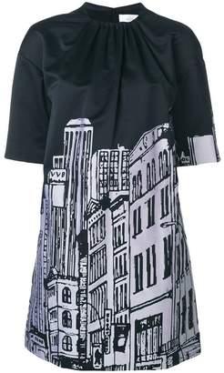 Victoria Beckham Victoria cityscape print dress