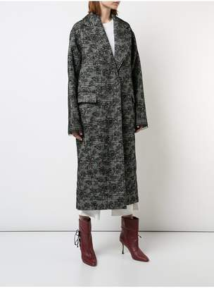 ADAM by Adam Lippes Scottish Tweed Cocoon Coat With Bonded Lace