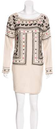 Mara Hoffman Embroidered Wool Dress