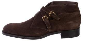 Tom Ford Suede Monk-Strap Ankle Boots