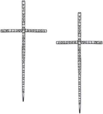 SHERYL LOWE Diamond Dagger Cross Earrings