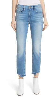 Frame Le Boy Released Cut Hem Straight Leg Jeans