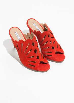 Petal Cutout Stiletto Sandals