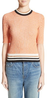 Women's Carven Stripe Trim Sweater $300 thestylecure.com