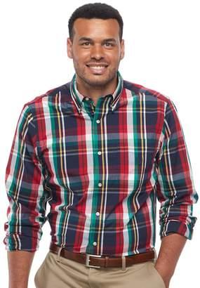 Chaps Big & Tall Regular-Fit Plaid Button-Down Shirt