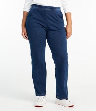 L.L. Bean L.L.Bean Women's Perfect Fit Pants, Straight-Leg Denim