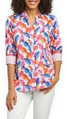 Foxcroft Mary Layered Palms Wrinkle Free Shirt