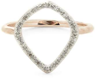 Monica Vinader Rose Gold Vermeil Riva Diamond Hoop Ring