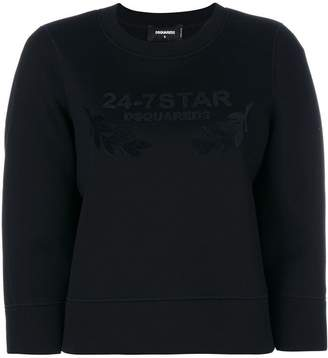 DSQUARED2 embroidered sweatshirt