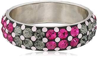 Chamak by Priya Kakkar Pink Double Stone Bangle Bracelet