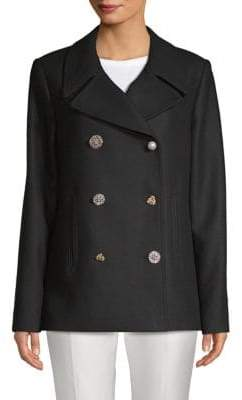 ADAM by Adam Lippes Double-Breasted Wool-Blend Peacoat