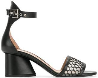 Emporio Armani perforated block-heel sandals