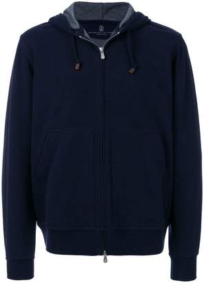 Brunello Cucinelli zipped front hoodie