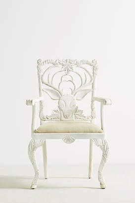 Anthropologie Handcarved Menagerie Deer Armchair