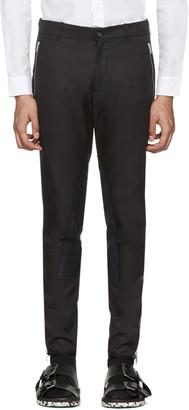 Alexander McQueen Black Zip & Button Trousers $635 thestylecure.com