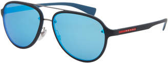 Prada Sport SPS 52S Black Aviator Sunglasses