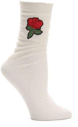 Steve Madden Sheer Rose Crew Socks - Women's