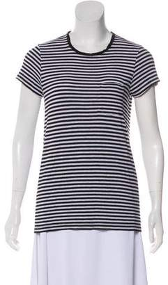 ATM Anthony Thomas Melillo Striped Short Sleeve Top