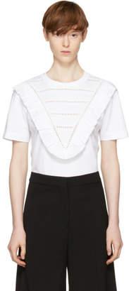 Stella McCartney White Lace and Ruffle T-Shirt