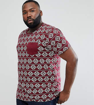 Brave Soul PLUS All Over Geo-Tribal Print T-Shirt