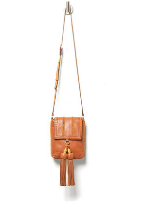 Foley + Corinna Leather Tassel Whipstitch Crossbody Bag