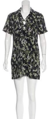 Equipment Silk Camo Print Dress