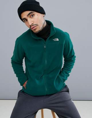 The North Face 100 Glacier Full-Zip Fleece in Green