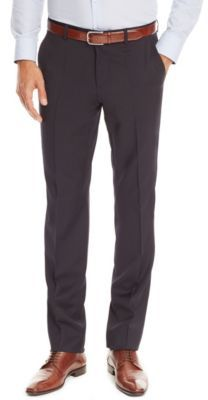 HUGO BOSS Sharp Regular Fit, Wool Dress Pants 30/RBlue
