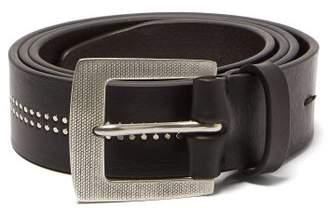 Paul Smith Studded Stripe Leather Belt - Mens - Black