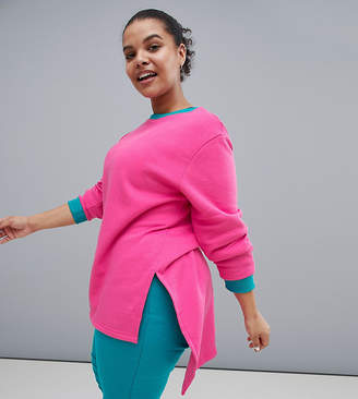 South Beach Plus Colourblock Longline Sweatshirt