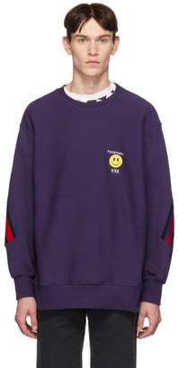 Facetasm Vier Purple Edition Smiley Patch Sweatshirt