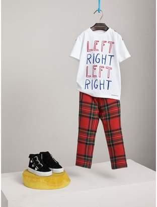 Burberry Left Right Print Cotton T-shirt