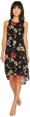 Karen Kane Floral High-Low Hem Dress Women's Dress