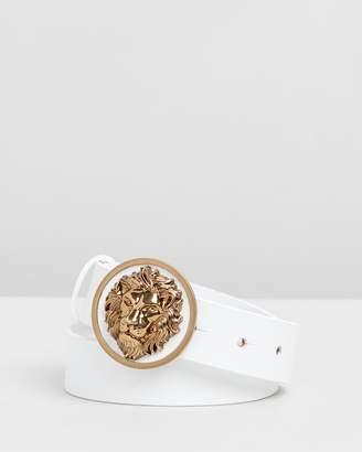 Versace Lion Head Buckle Belt