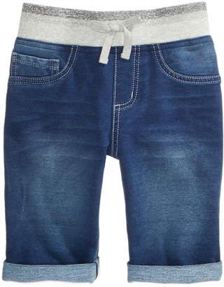 Vanilla Star Denim-Look Knit Bermuda Shorts, Big Girls